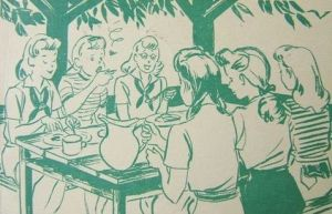 1941 Girl Scout camp postcard