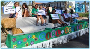 Modern day Girl Scout parade float