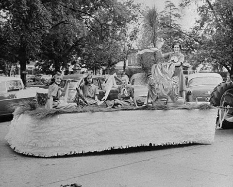 Girl Scout float, Randolph County, Ga. parade: 1958