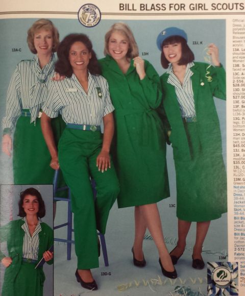 from the 1986-87 Girl Scout Catalog